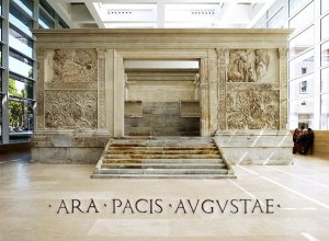 Altar of Augustan Peace.  Photo by Charles Rhyne, copyright Charles Rhyne & Reed College.  http://cdm.reed.edu/ara-pacis