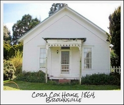 Cora Cox House, Brownsville.  Photo from http://makeoregonhistory.org/