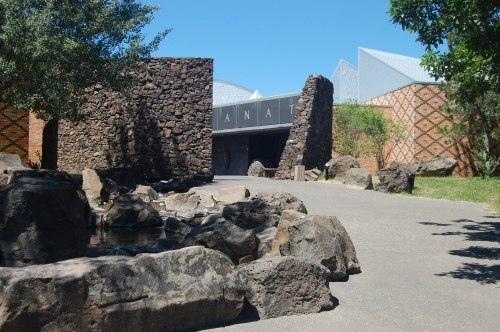 The Museum at Warm Springs Entrance.  Photo by Anne Marshall.