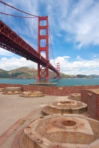 Fort Point, built before the Civil War, at the Golden Gate.  Photo: National Park Service.