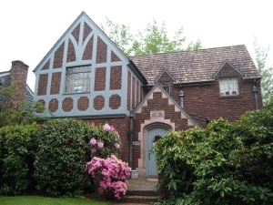 Tudor Revival House in Montlake neighborhood, photo by Mimi Sheridan