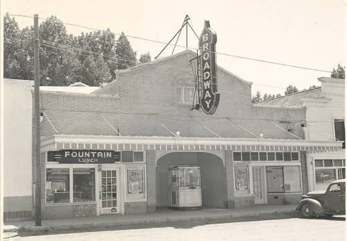 Broadway Theater in Malin, southeast of Klamath Falls. Image courtesy Basin Youth for Christ.