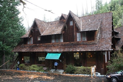 The west wing of the Oregon Caves Chateau. Photo: D. Painter