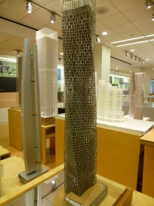 Architectural Models at the Chicago offices of SOM. Photo by B. Niederer.