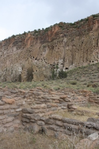 Pueblo archaeological site at Bandelier National Monument